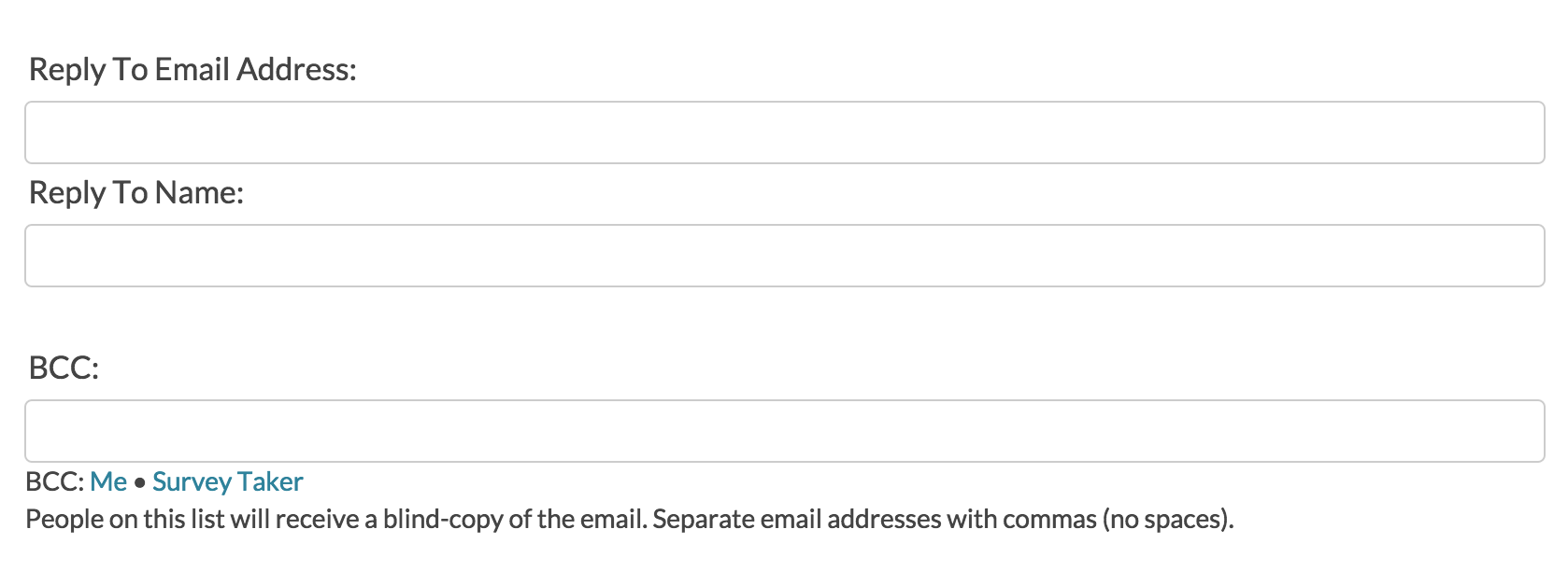 send email action send an autoresponse email surveygizmo help if an email fails to send in this list all emails that follow it will also fail so make sure to triple check your addresses