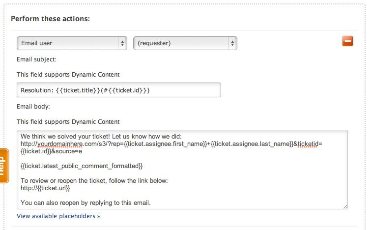 Share a Survey Via a Zendesk Trigger | SurveyGizmo Help