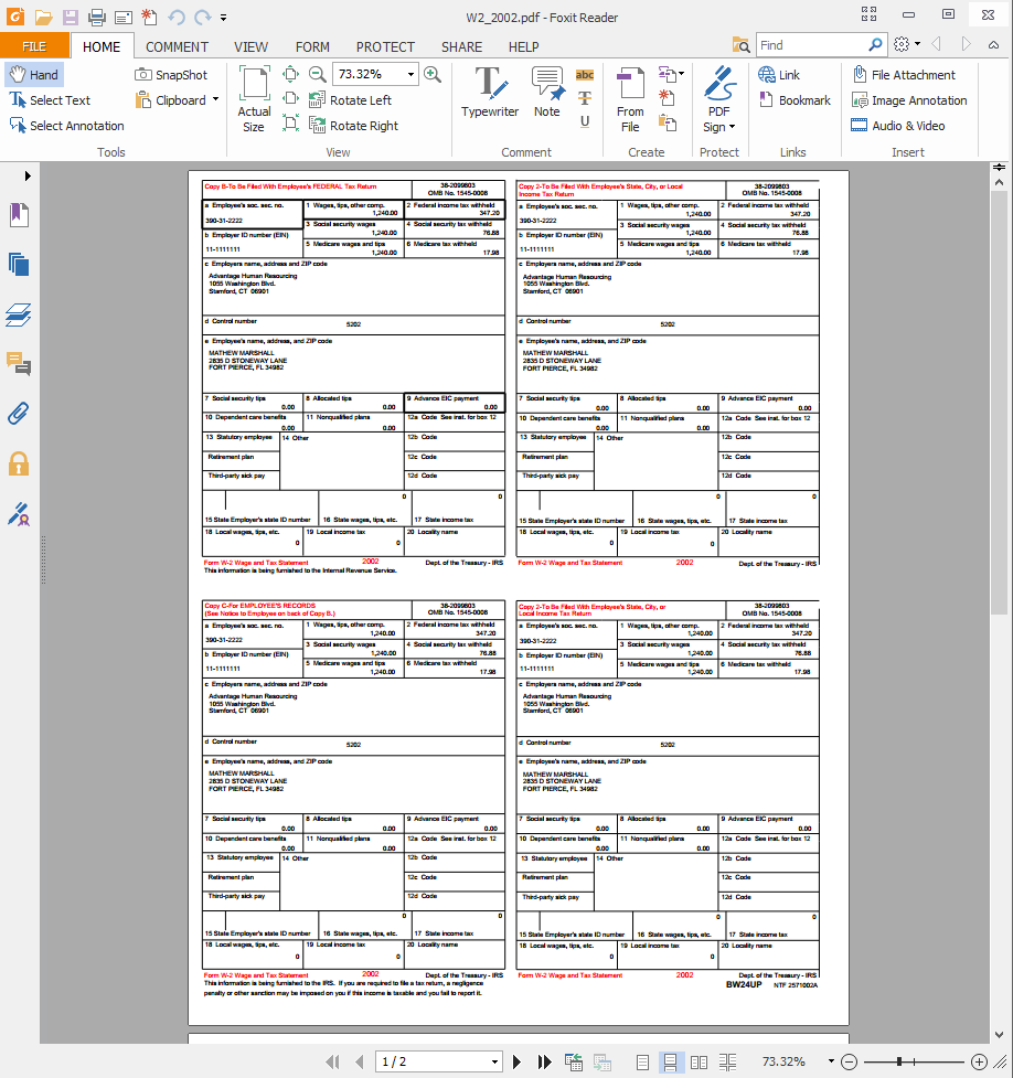 Employees How To Access And Print Pay History And Ws TempWorks - W 2 template