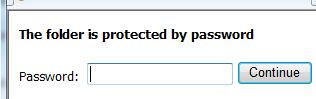folder protected password