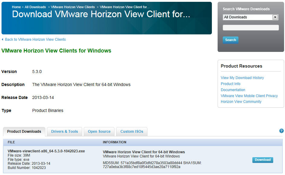 download VMware Horizon