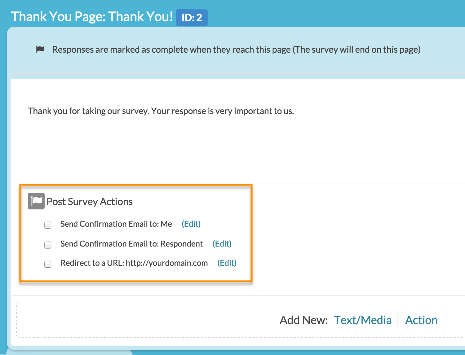 how do i turn off confirmation emails surveygizmo help if you wish to make edits simply click the edit link this will open a panel that will allow you to customize all aspects of your confirmation email