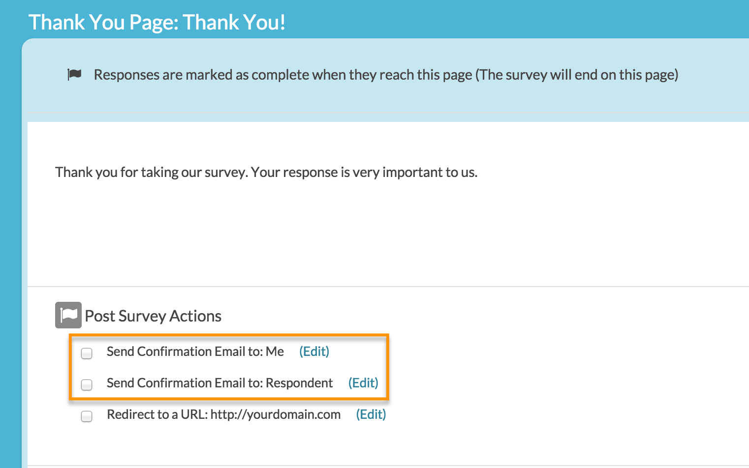 Send Email Action: Send an Autoresponse Email | SurveyGizmo | Help
