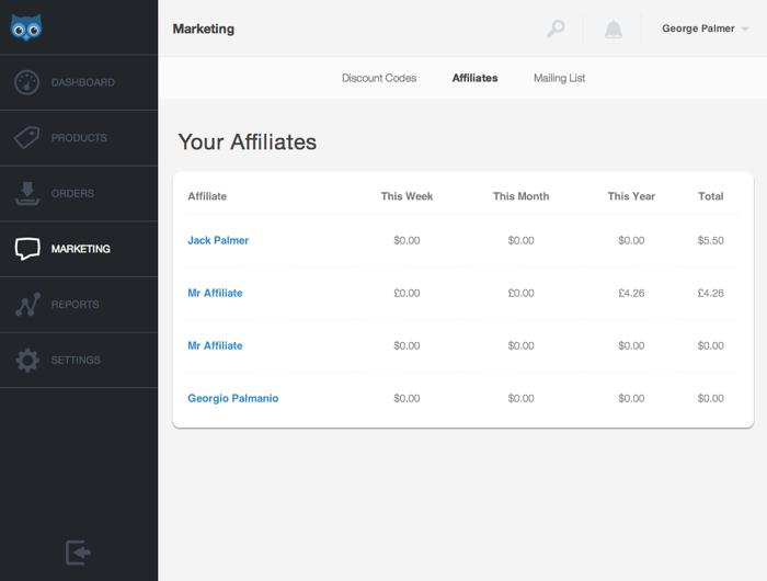 Setting up your own affiliate program | SendOwl