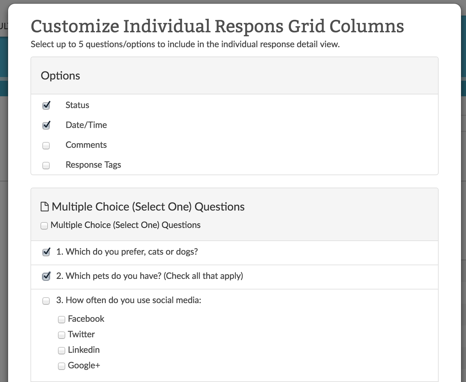 Customize Grid Columns