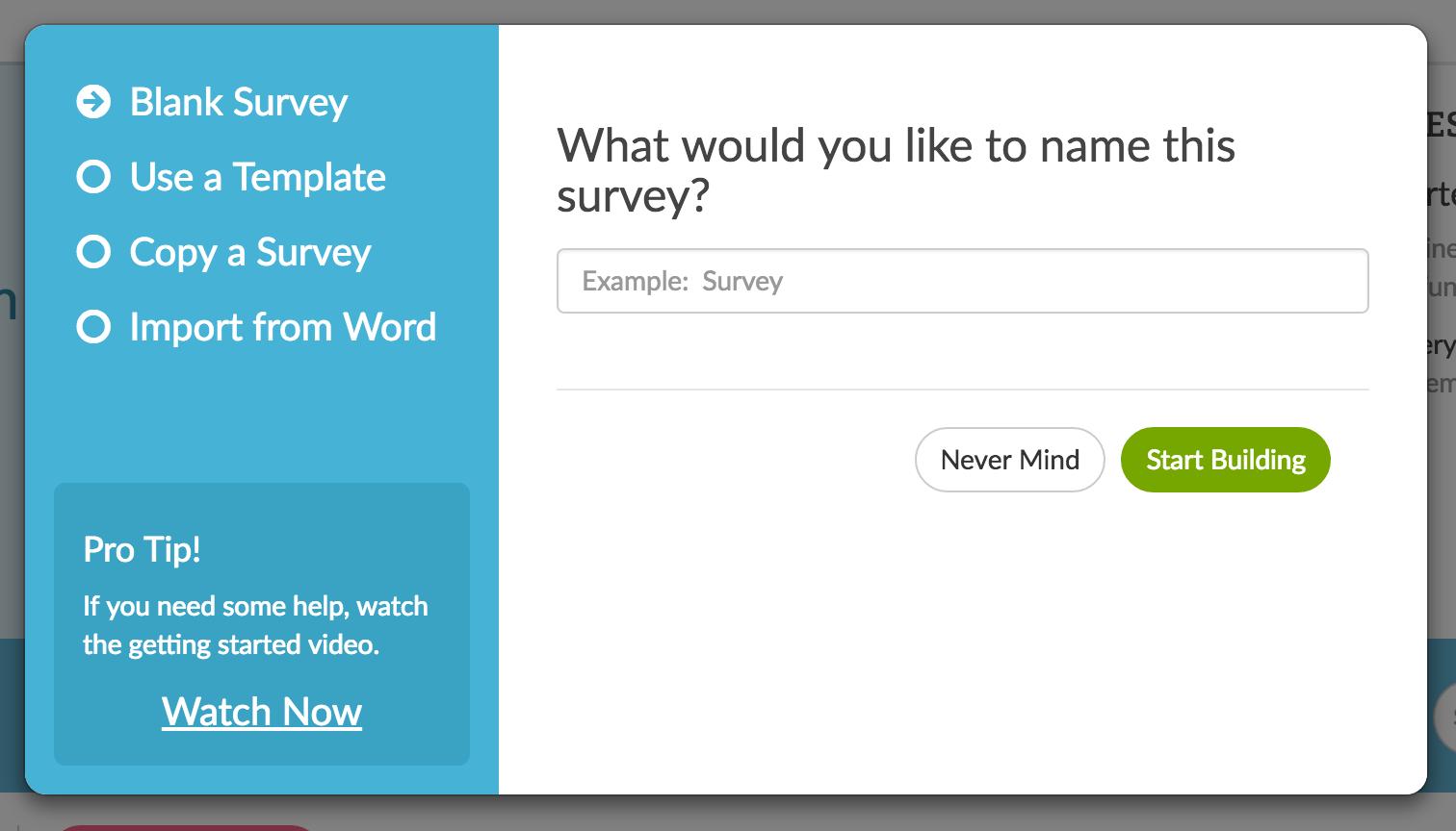 Create a Survey SurveyGizmo – Make a Survey in Word