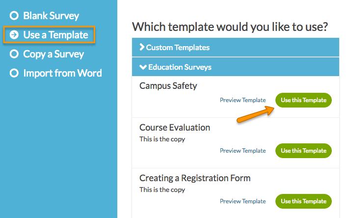 Creating And Using Survey Templates   Surveygizmo   Help