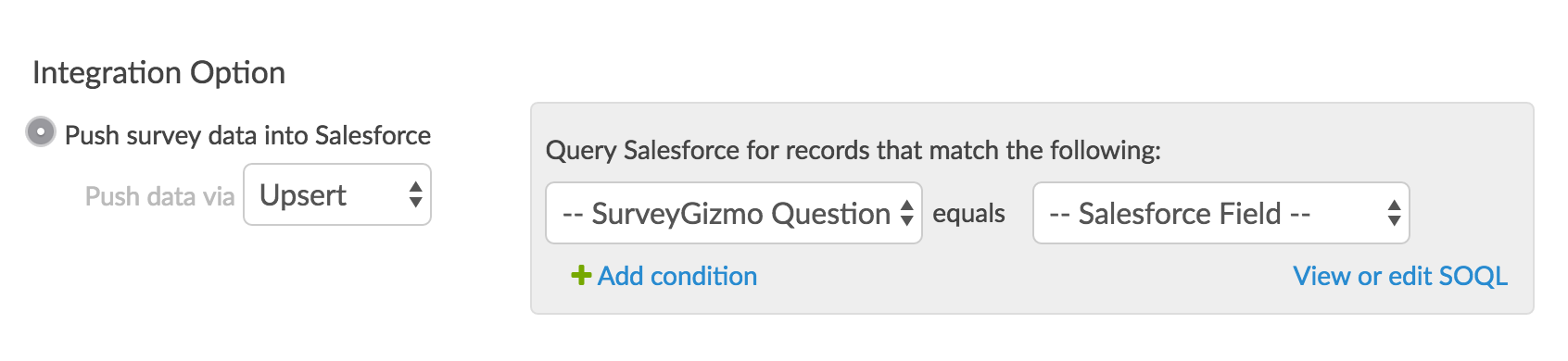 Query Salesforce for records that match the following