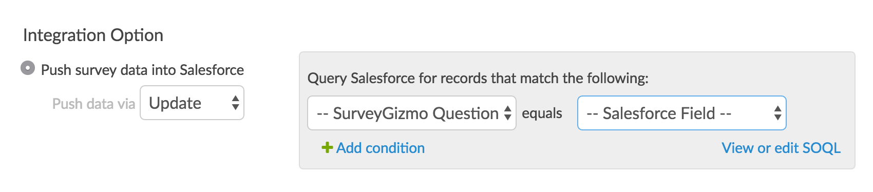 Query Salesforce records that match the following