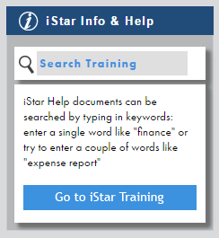 Shows search box in iStar.