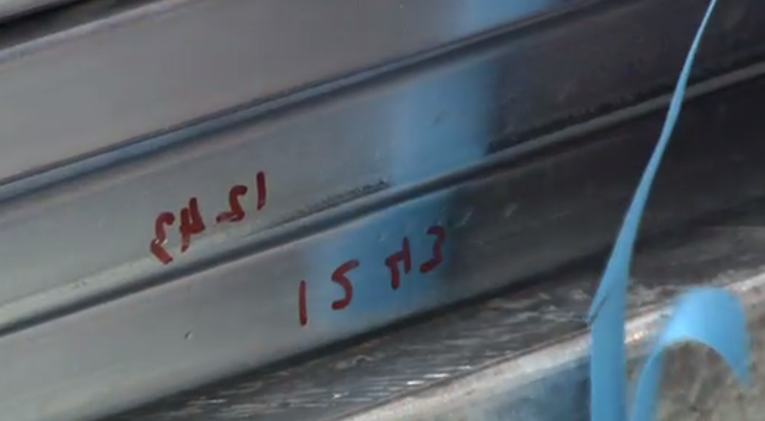 The serial numbers are written onto the parts
