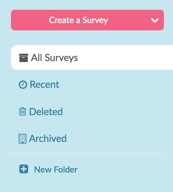 Organize Projects in Folders | SurveyGizmo Help