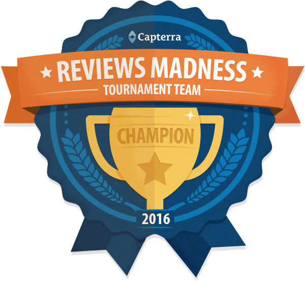 Capterra Reviews Madness 2016 Champion Badge