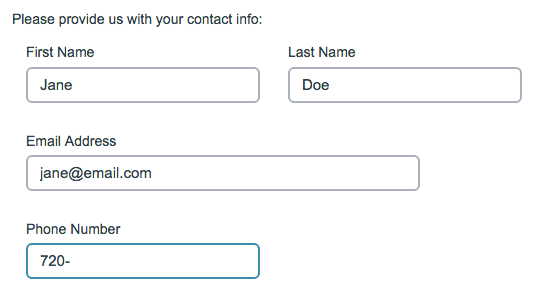 Contact From Survey Taking on Desktop