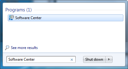 software center dialog box