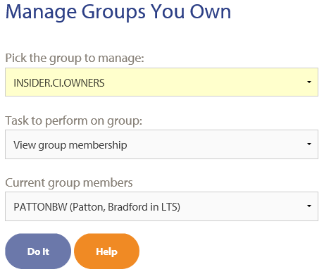 view group membership