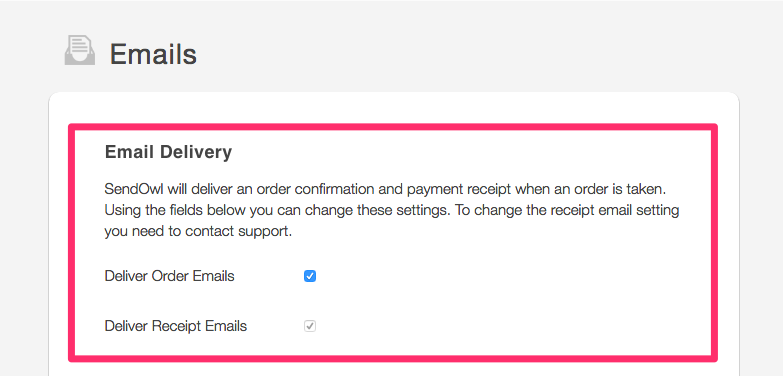 Customising email templates sendowl important note on email delivery maxwellsz
