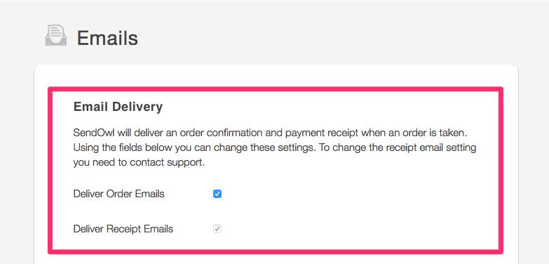 Customising Email Templates Sendowl