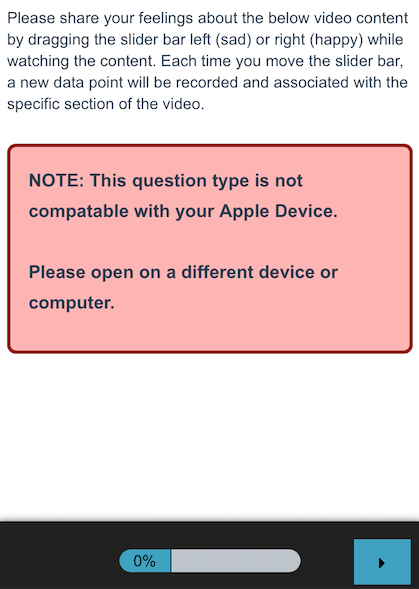 Video Sentiment: iOS Warning