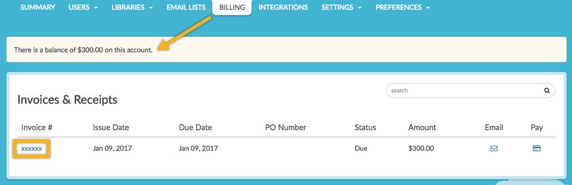 Get a Billing Invoice or Receipt SurveyGizmo – Billing Invoice