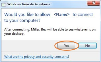 remote assistance prompt