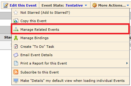 manage related events