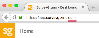 SurveyGizmo US Account URL