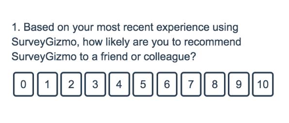 Net Promoter Score Question Type