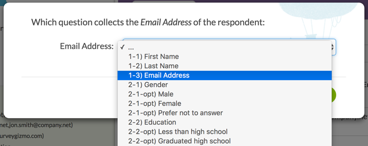 Respondent Confirmation: Email Address Merge Code