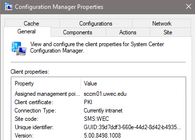 configuration manager control panel