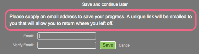 Save & Continue Prompt