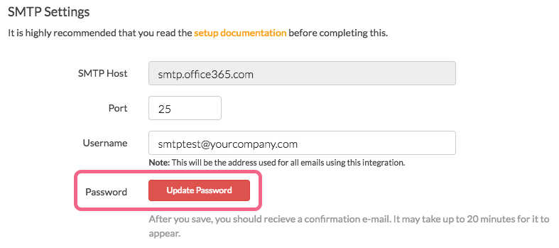 Updated SMTP Integration