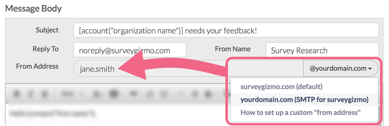 Use Custom From Address In Email Campaign