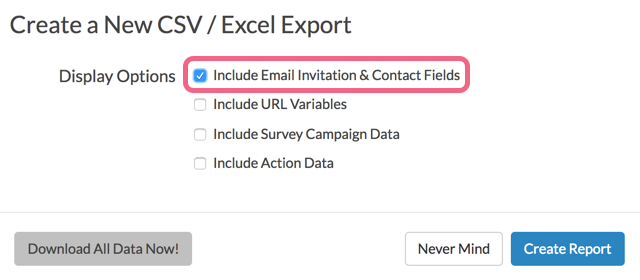 Monitor Contacts: Export With Contact Data