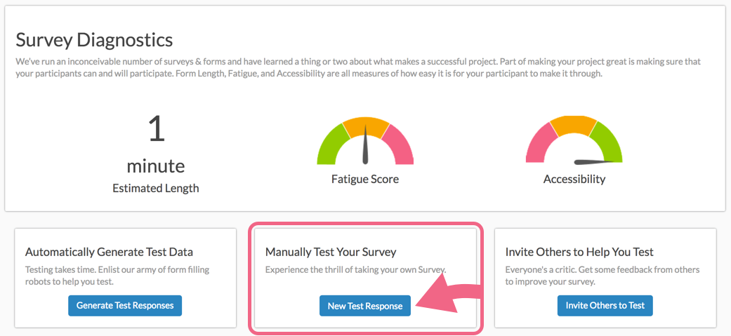 Manually Test Your Survey