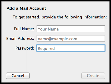 adding a mail account