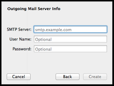 outgoing mail server info