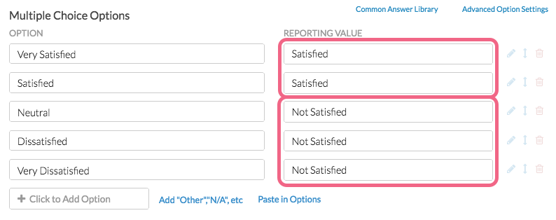 Create Duplicate Reporting Values