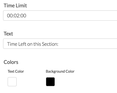 Page Timer: Text and Color Settings