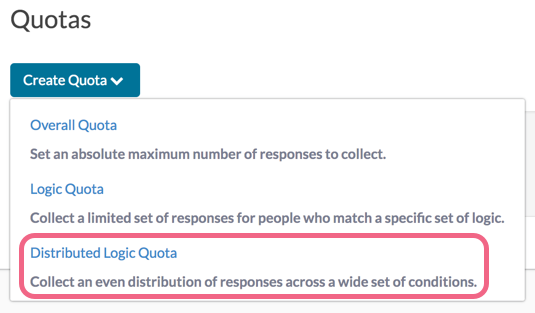 Create Distributed Logic Quota