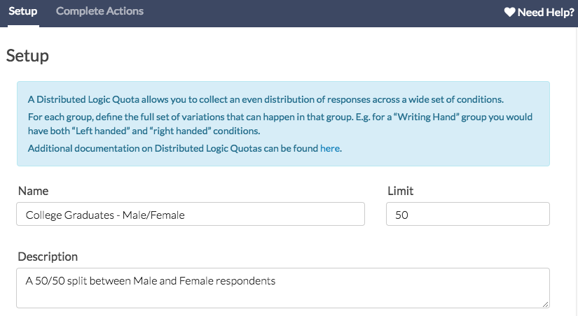 Distributed Logic Quota Setup