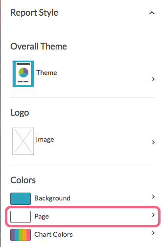 Change Report Page Color