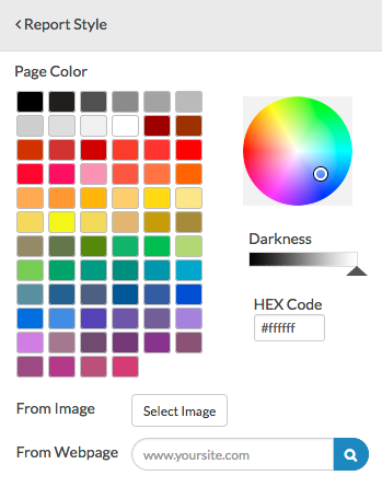 Page Color Options