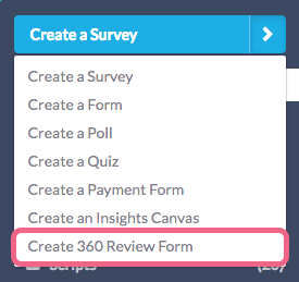Create 360 Review Form