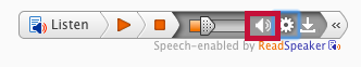 ReadSpeaker volume icon.