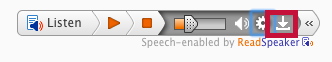 Identifies ReadSpeaker download icon.