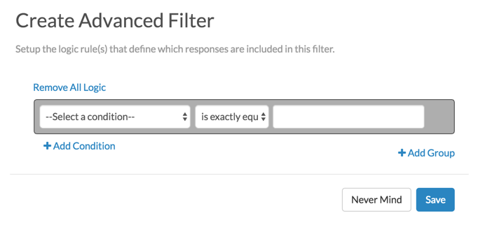Create Advanced Filter