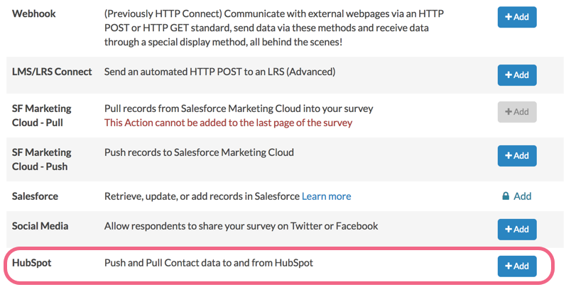 Add HubSpot Pull Action