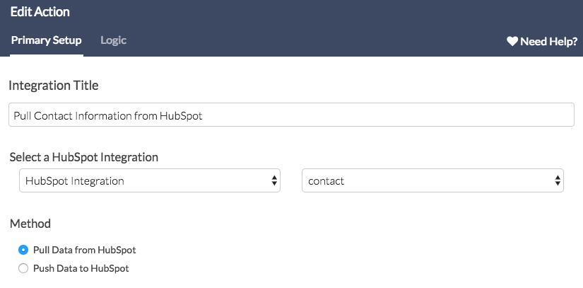 HubSpot Workflow - Add HubSpot Pull