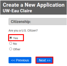 US citizen: Yes or No